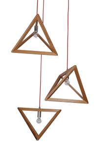 Pendant Light Natural Timber Wood Triangle | Projects to ...