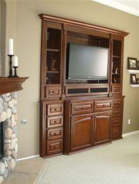 Custom+Bedroom+Wall+Units | Flat screen tv built in wall ...