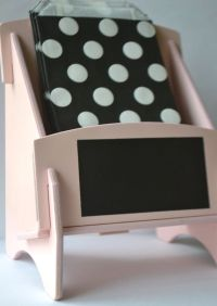 Wooden Pink Treat/Goodie Bag Holder for dessert or candy