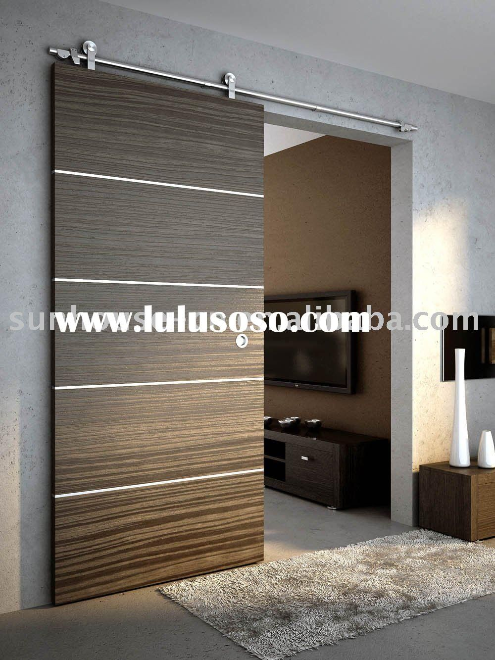 Wood sliding door sliding door fitting