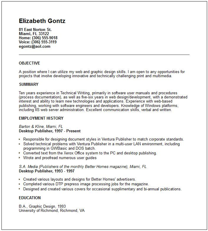 Employment Resume Template Kimberly J Myers4257734206Kmyers - employment resume template