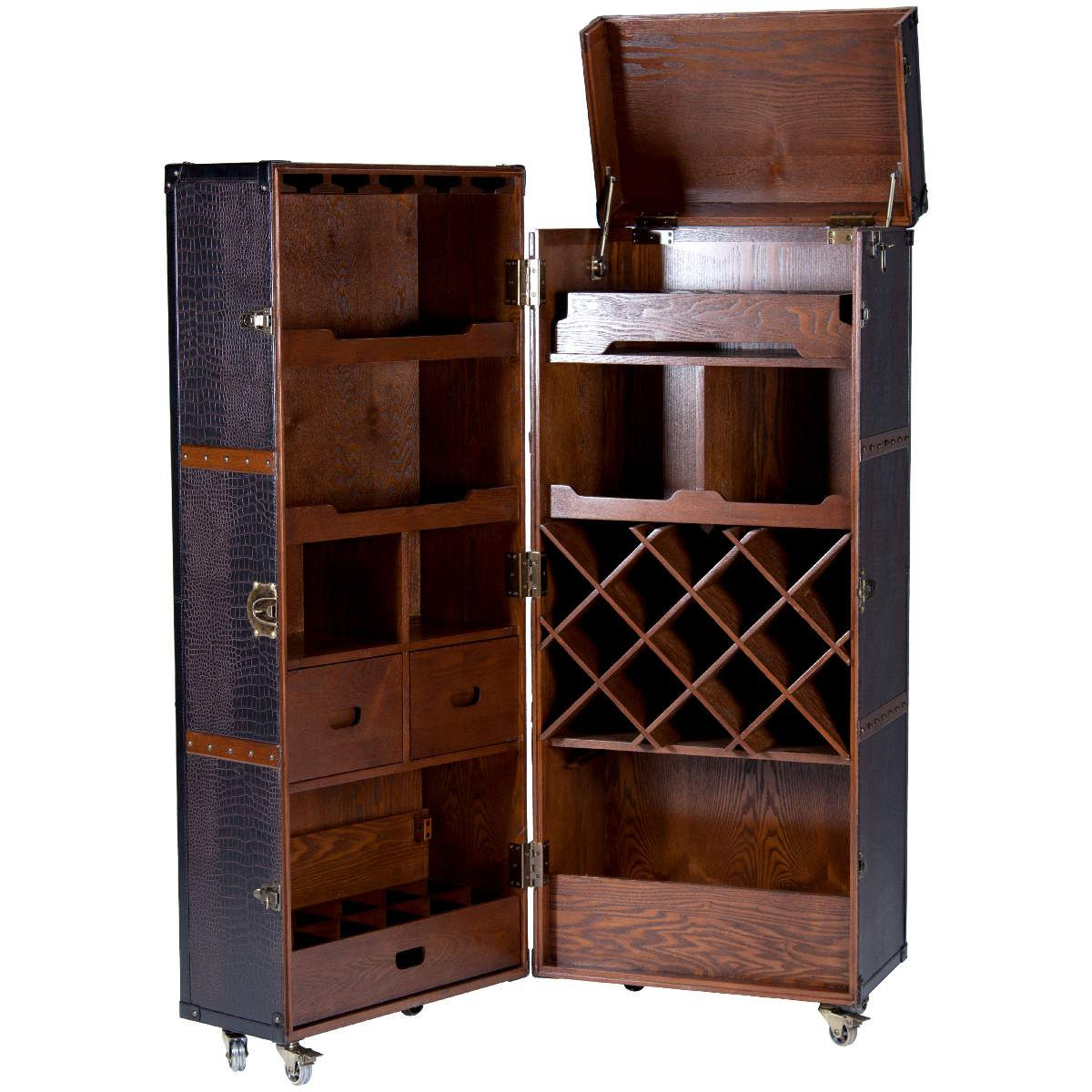 Bar Kofferschrank Trunk Style Mini Bar Retro Drinks Cabinet - Inspired By