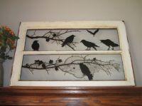 Old window + decals = great! | Halloween | Pinterest ...