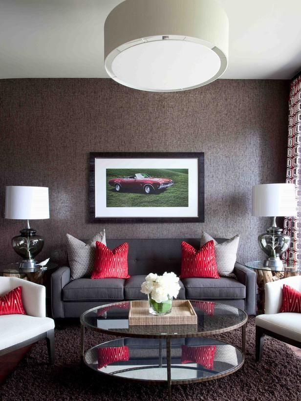 How to Decorate Series Finding Your Decorating Style Living - black and red living room ideas