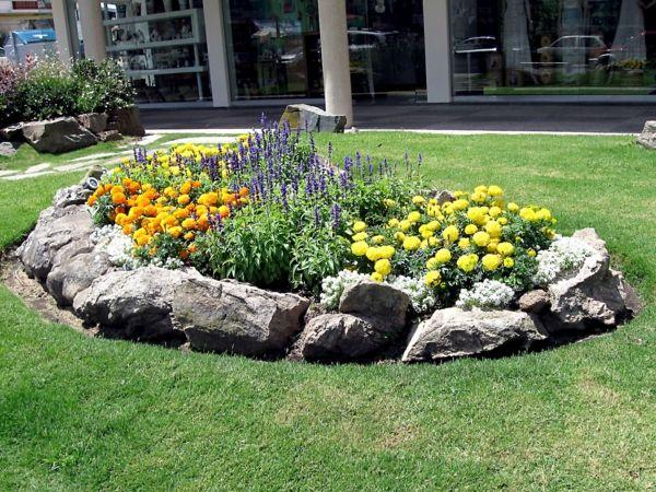 garten ideen gartengestaltung steingarten sommerblumen salbei - gartengestaltung steingarten