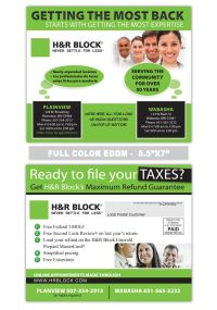 H Block too | Accounting and Tax Preparation Postcard ...