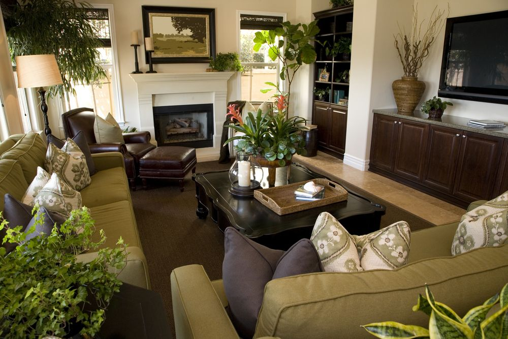 53 Cozy \ Small Living Room Interior Designs (SMALL SPACES - green living rooms