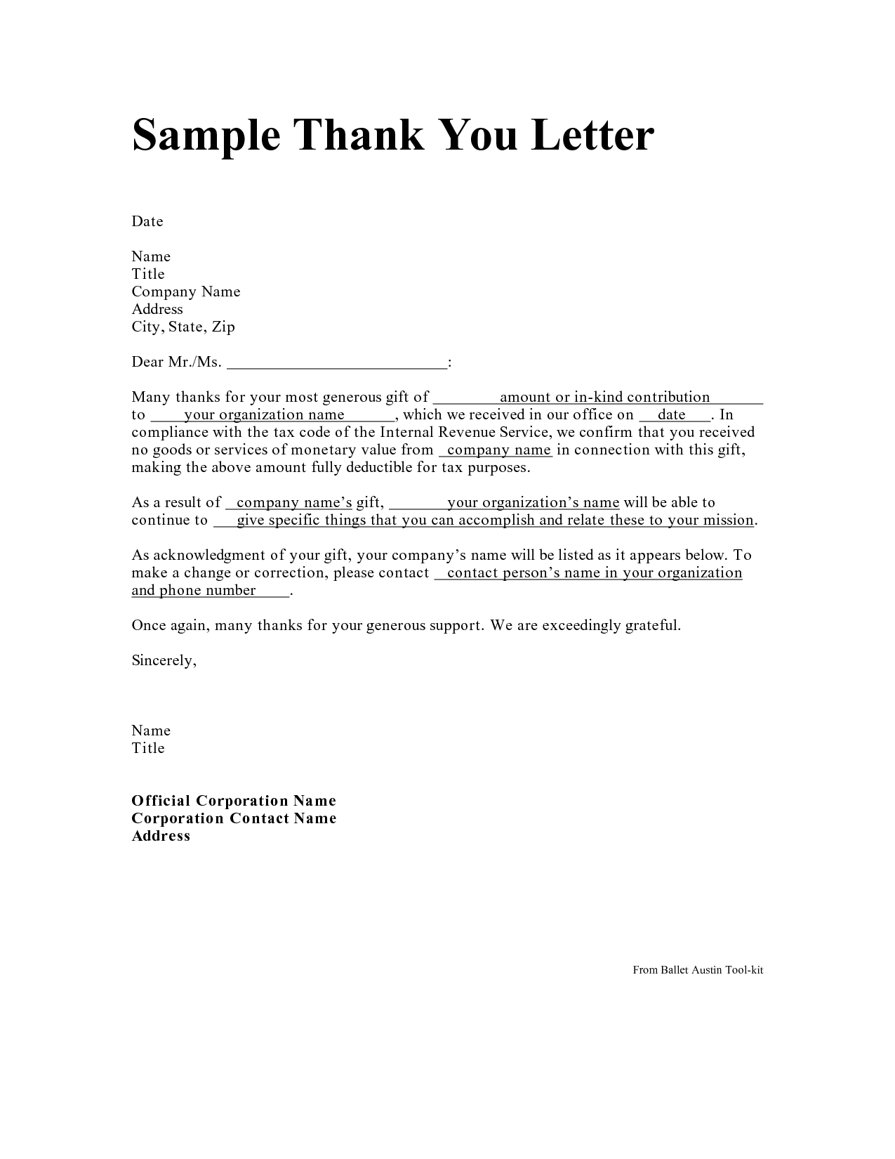 example thank you letter
