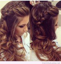 Side braided hair with curls | hair | Pinterest | Braid ...