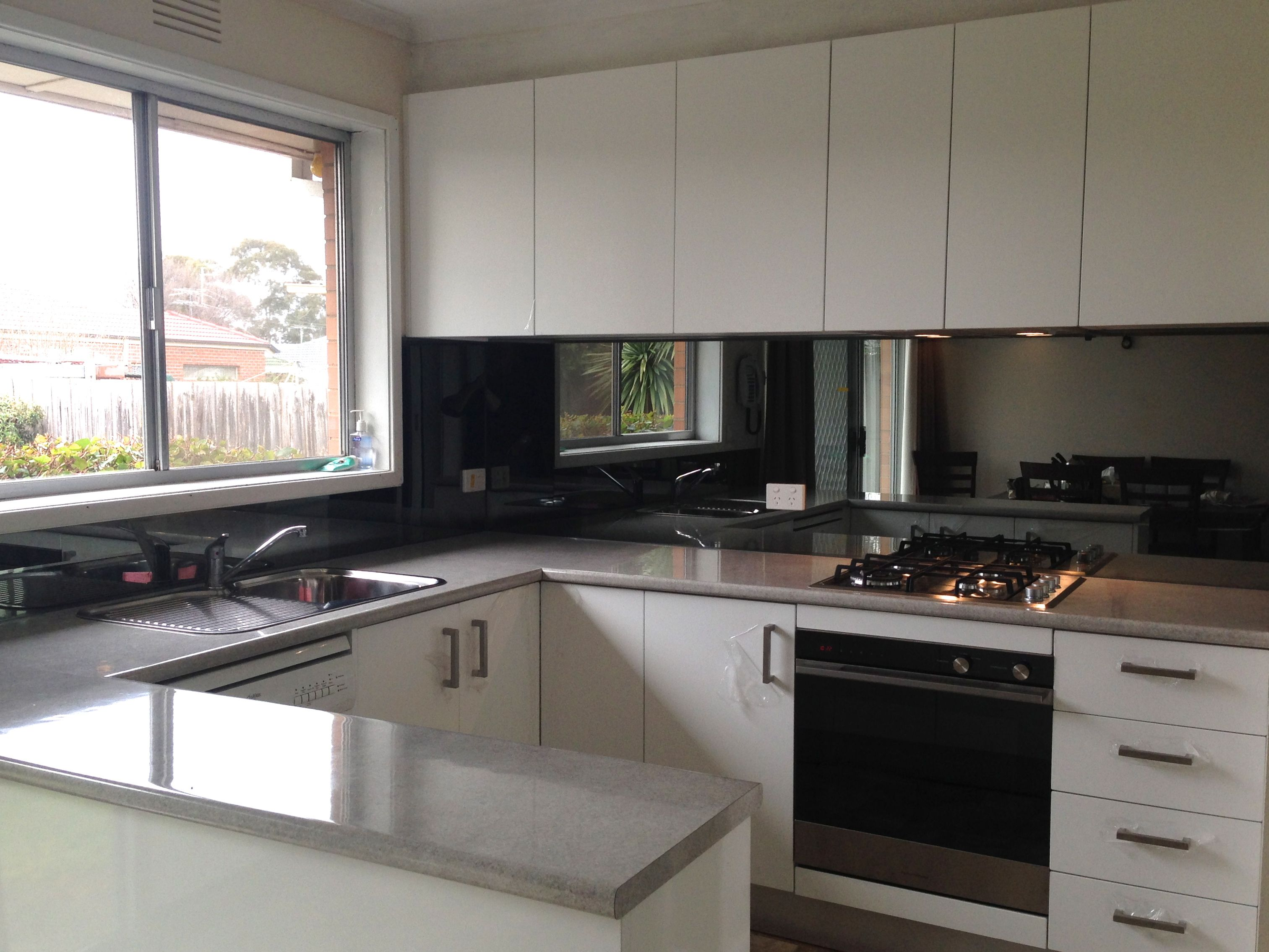 Floor Mirrors Melbourne Grey Ash Toughened Mirror From Ultimate Glass Splashbacks