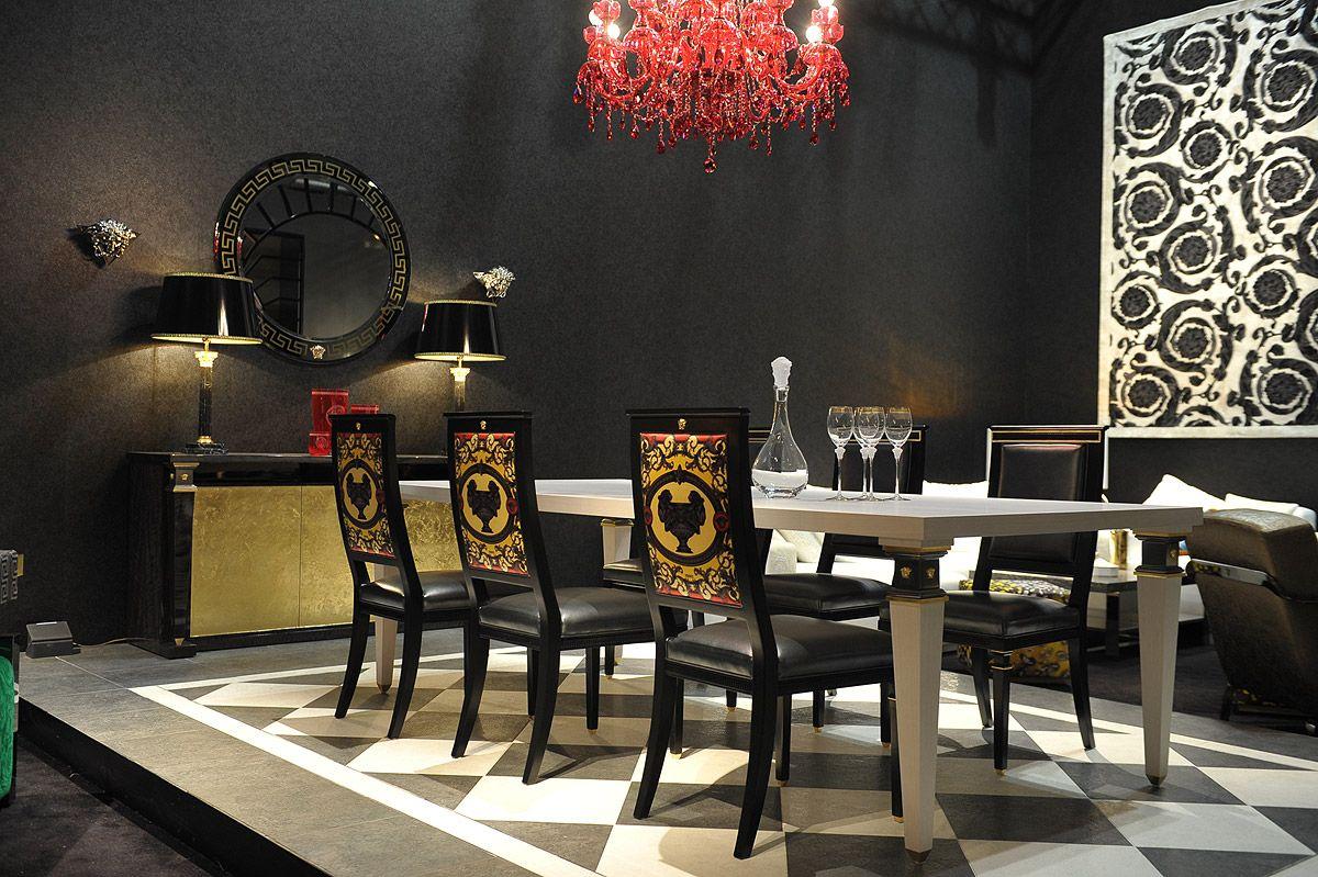 Versace Schlafzimmer | Tapete Vlies Blätter Anthrazit Gold As ...