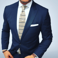 Striped knit tie and suit.   Bows-N-Ties Styled ...