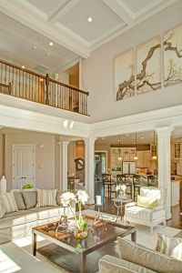 two story family room with coffered ceiling - Google ...