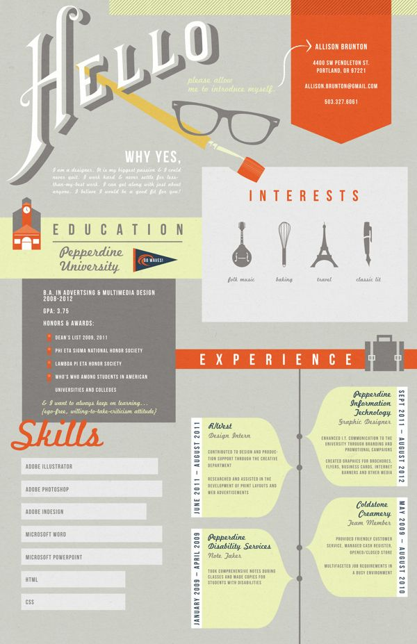 pinterest cv graphic design
