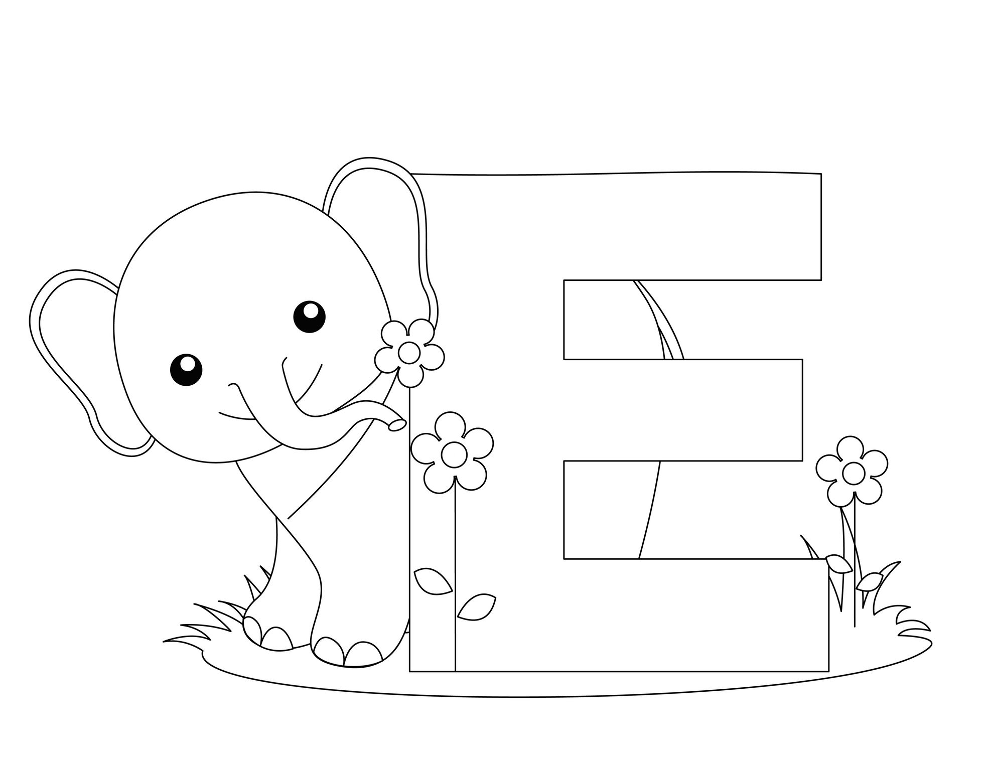 Cool letter e coloring pages selfcoloringpages com