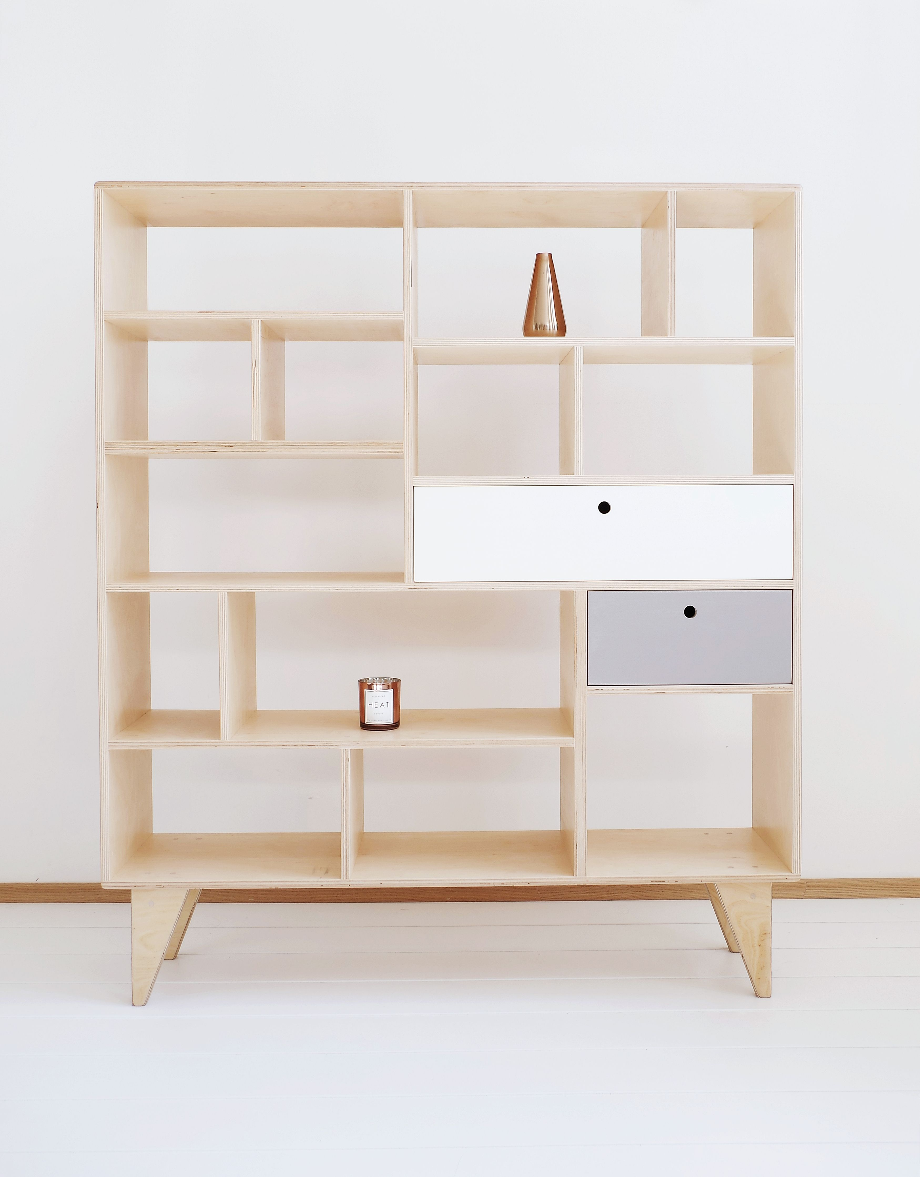 Scandinavian Shelving Apex Our Scandinavian Plywood Bookcase Bureau With