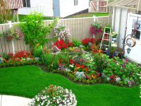 From Tootsie Time. I love the backyard flower garden | Red ...
