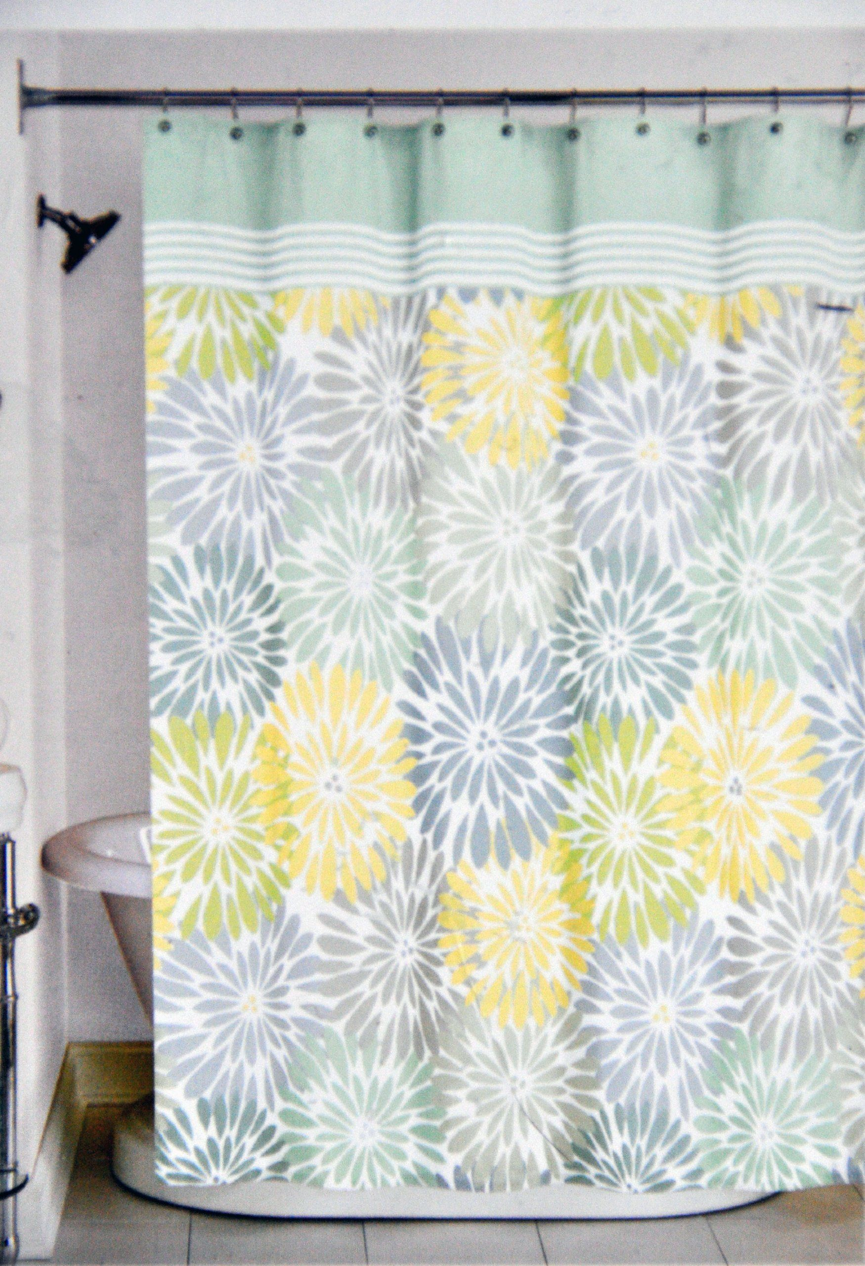 Yellow Fabric Shower Curtain Yellow And Blue Fabric Shower Curtain Curtain
