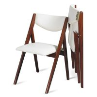 Oooh, look at this modern take on a folding dining chair ...
