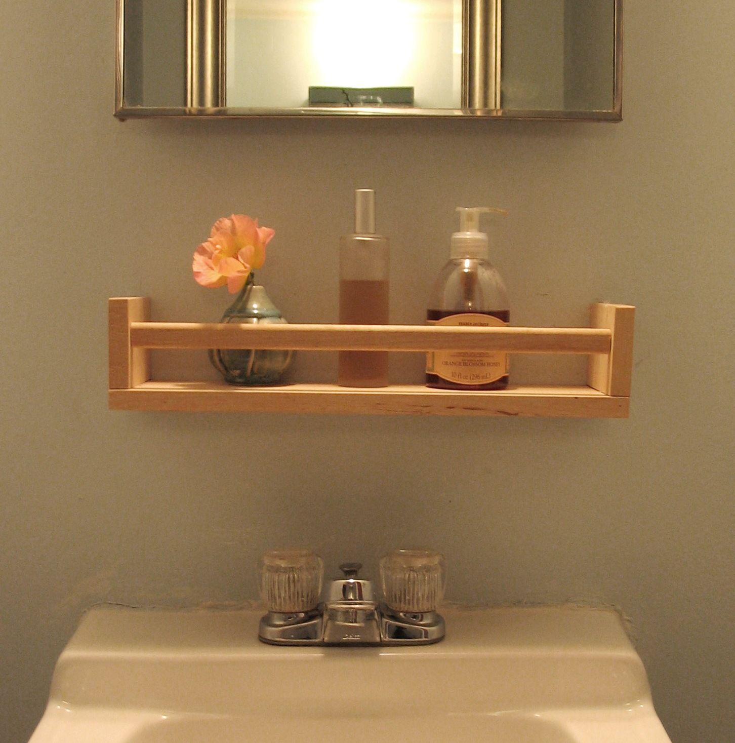 Metal bathroom shelf