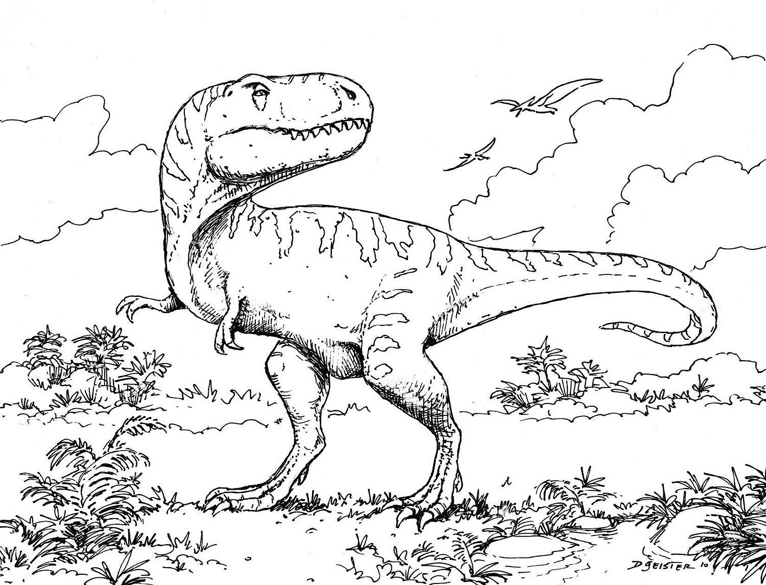 Dinosaur printable coloring pages dino cake idea for landen