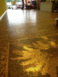 Penny Floor with sunflower mosaic | Remodel | Pinterest ...
