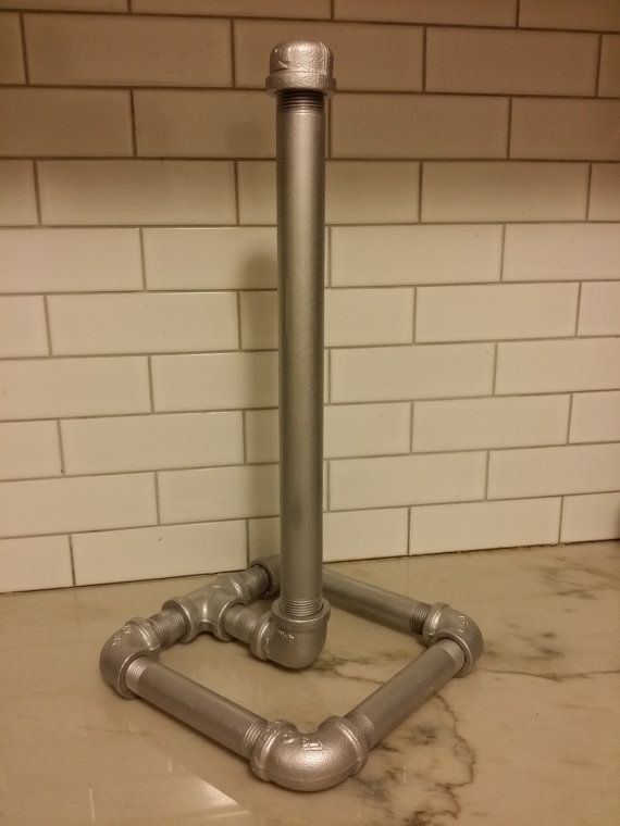 Paper Towel Holder Industrial Metal Plumbing by