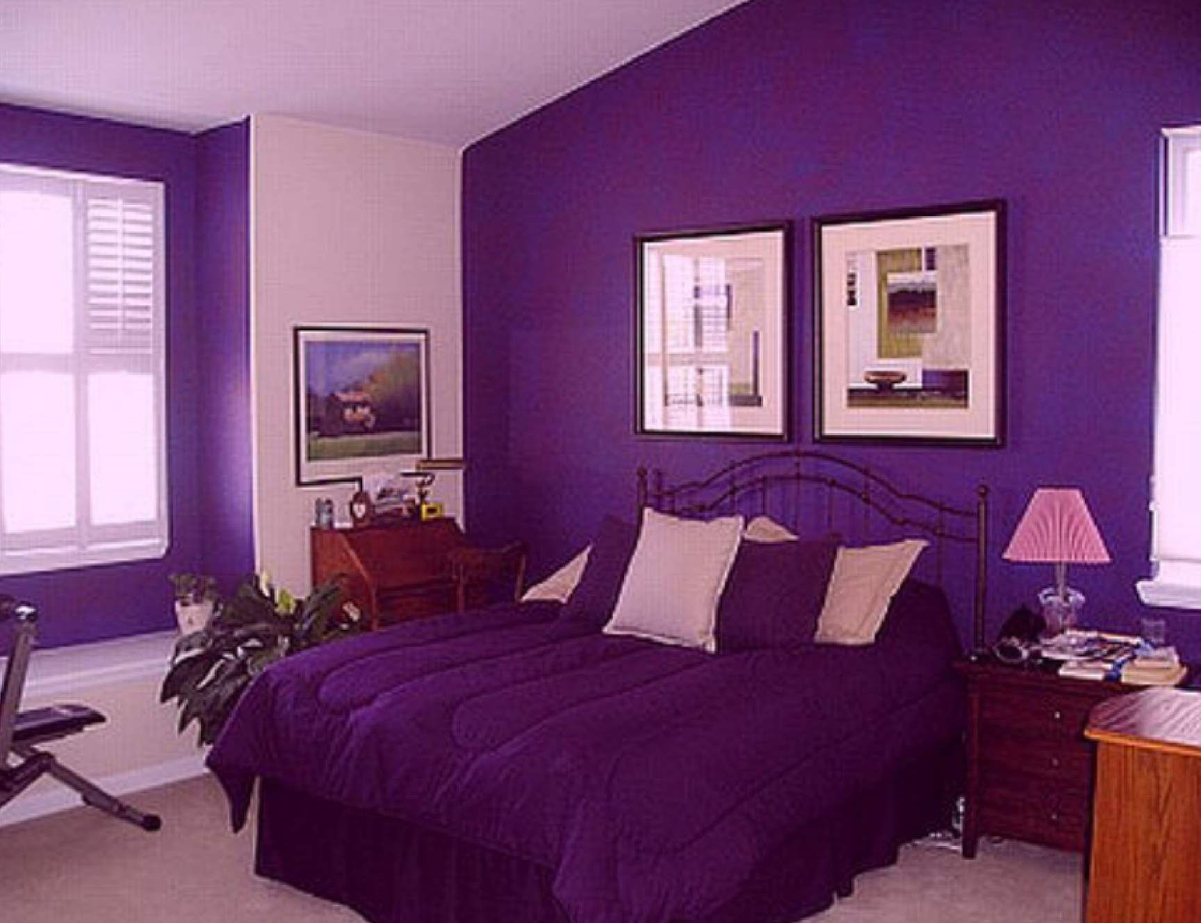 Room purple bed room ideas