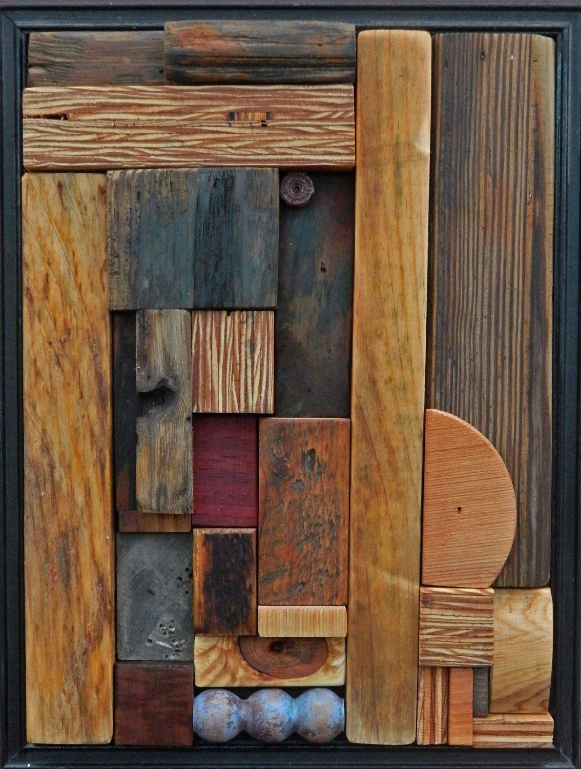 Art Painted On Wood Heather Patterson Abstract Wood Relief Mosaic Quotblue