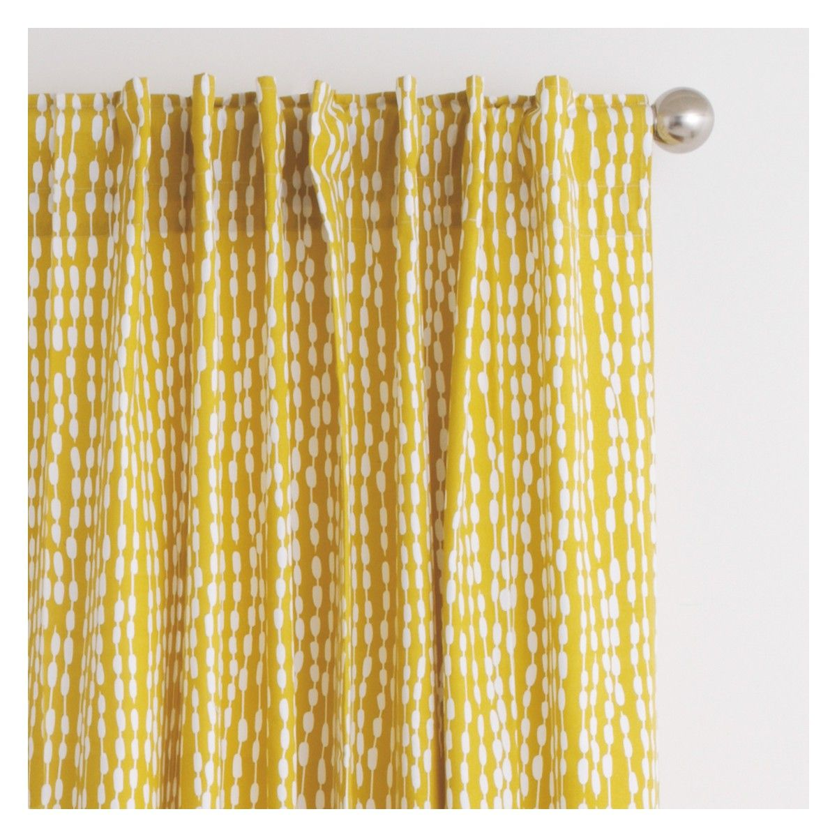 Trene pair of mustard yellow patterned curtains 145 x 280cm