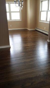 Hardwood stain color: Minwax Jacobean Satin finish ...