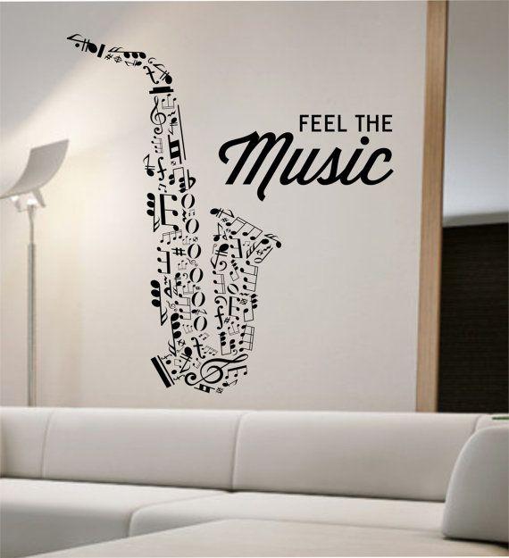 Saxophone Wall Decal Vinyl Sticker Art Decor Bedroom