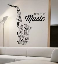 Saxophone Wall Decal Vinyl Sticker Art Decor Bedroom ...