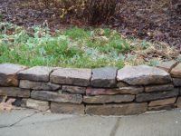 Stacked stone flower bed border | Front Yard - Curb Appeal ...