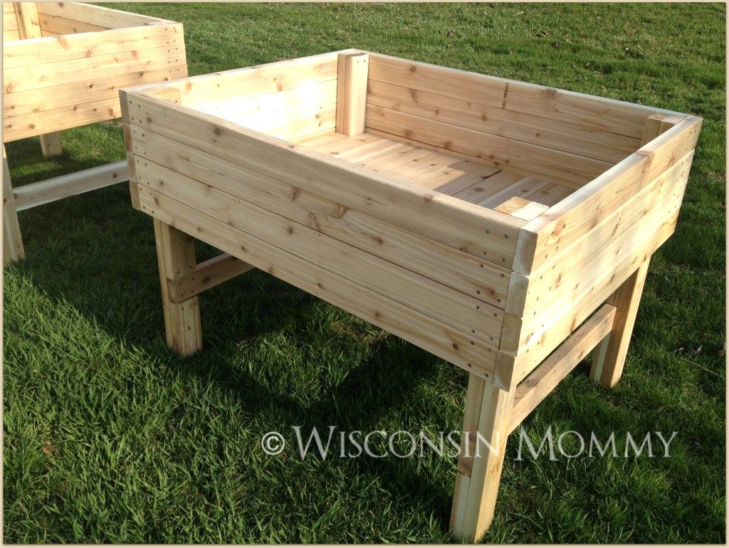 Diy Raised Garden Bed On Legs Building Raised Garden Beds On Legs Gardening Archives