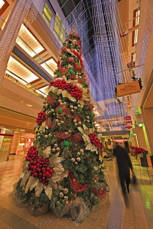 Picture of an exquisitely decorated Christmas tree in the atrium - beautiful decorated christmas trees