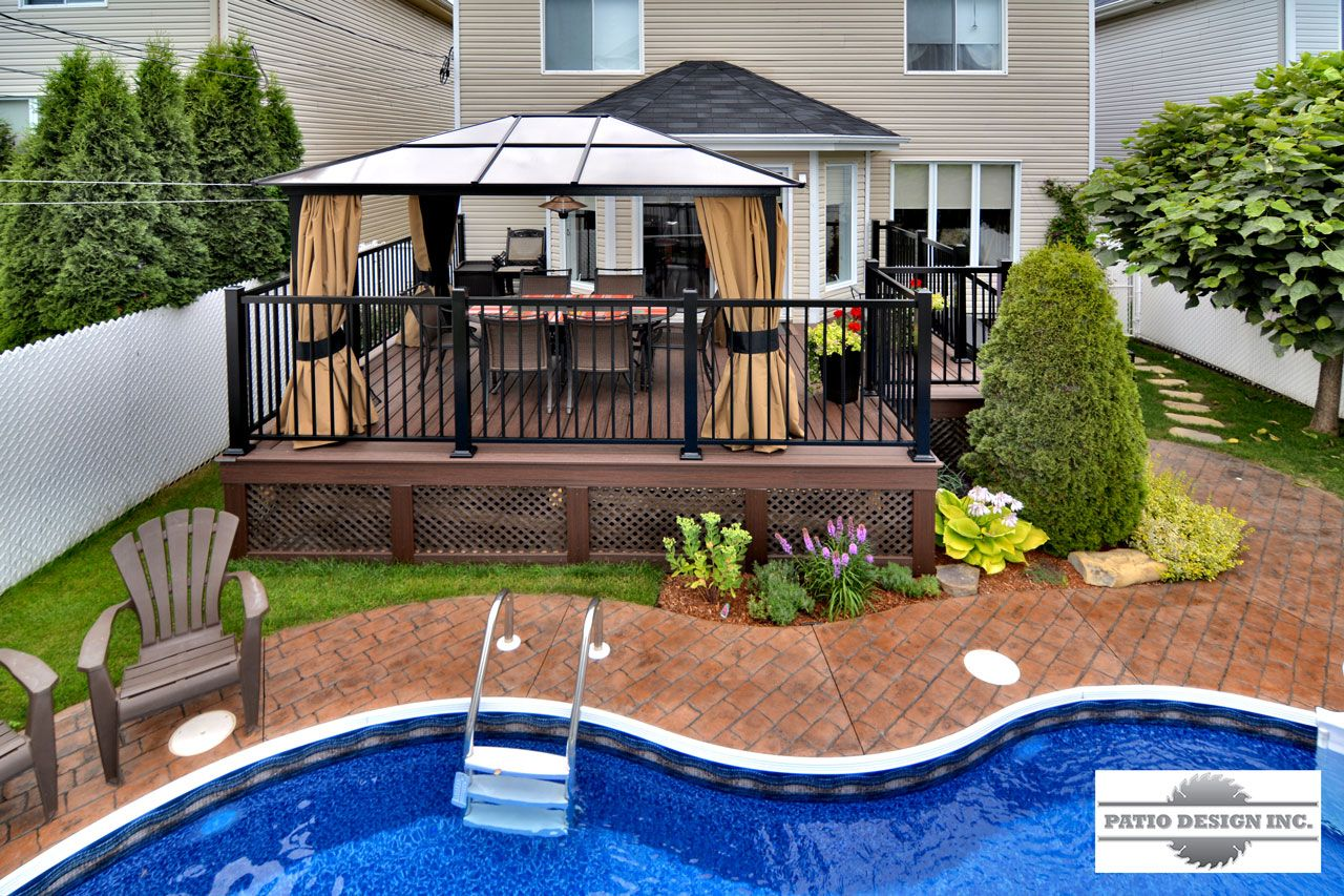 Comment Faire Une Piscine Creusée Patio Avec Piscine Creusée Decks Pinterest Decking