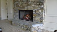 stone veneer fireplace | ... Stone, Honey Ledge Stone ...