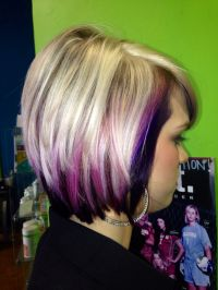 Purple And Blonde Hairstyles | Fade Haircut