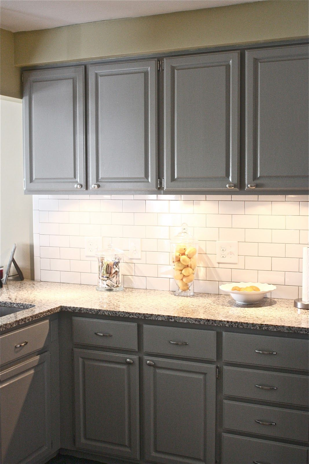 White Floor White Cabinets White Cabinets Corian Countertops With Tile Floor