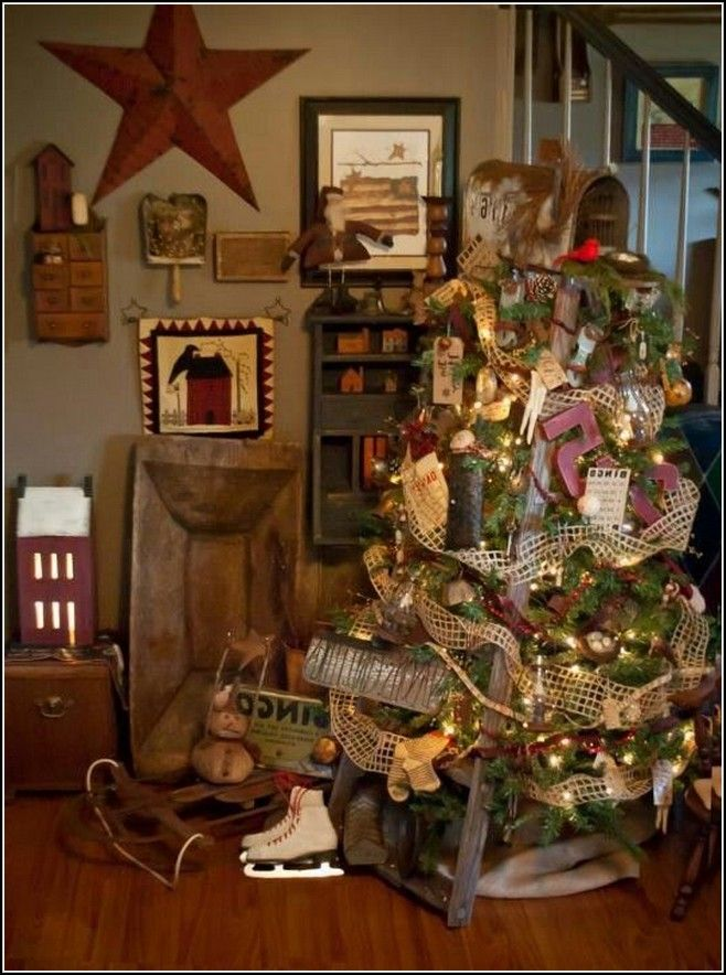 Primitive Country Christmas Tree Decorations is one of the best - primitive christmas decorations