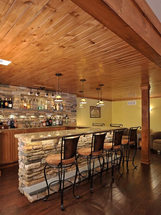 Boards And Beams Basement Bar Designs On Pinterest | Basement Bars, Home