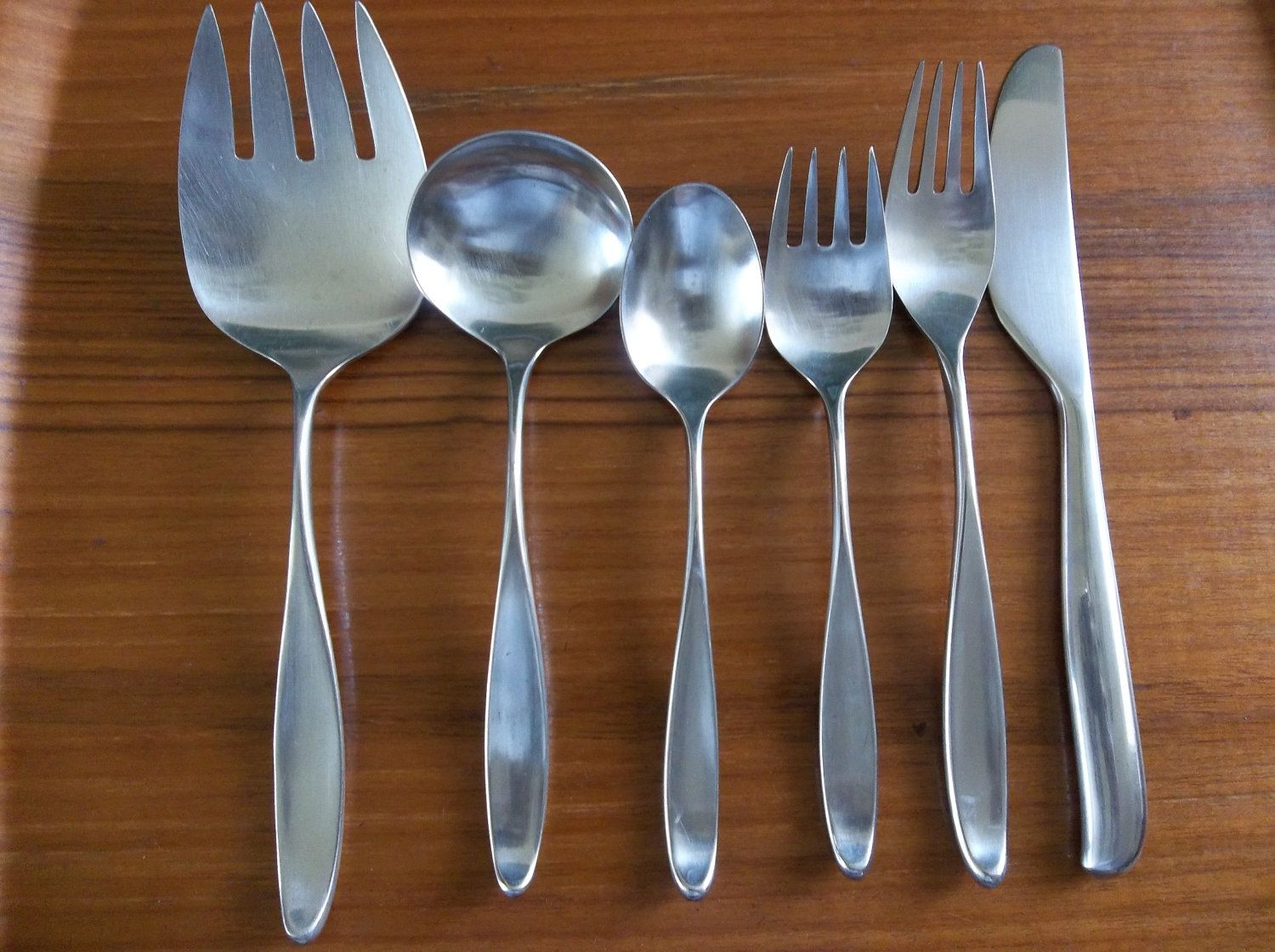 Contemporary Stainless Steel Flatware 21 Lauffer Norway Design 2 Stainless Danish Modern