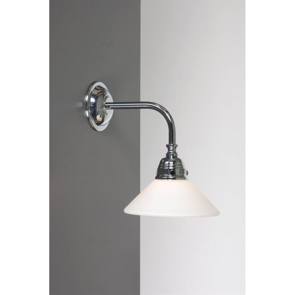Classic victorian bathroom wall light for lighting period bathrooms