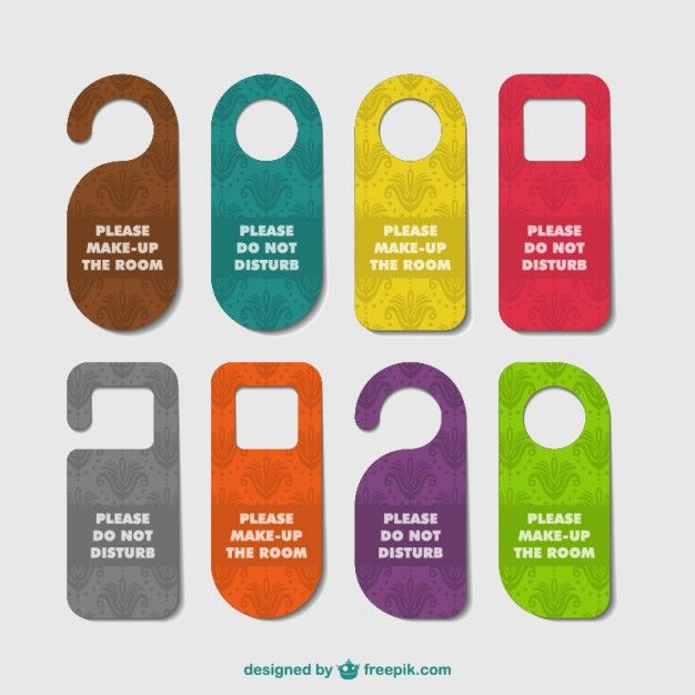 Hotéis porta cabides definir Vector free download and Graphic - retail and consumer door hanger template