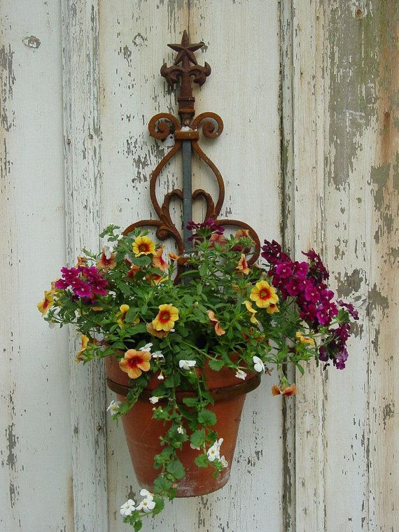 Wall Mounted Plant Holder Steel Pot Ring Wall Mount