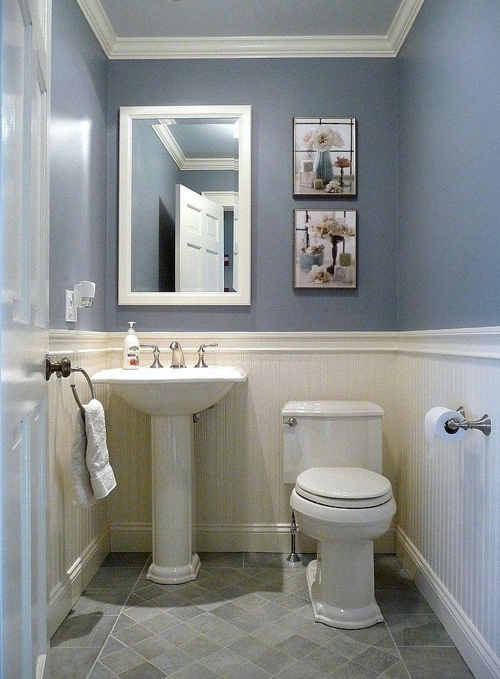 Kohler Devonshire Toilet Powder Room Traditional with Beadboard - beadboard bathroom ideas
