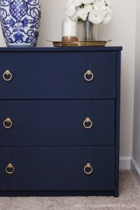 "DIY Fabric Covered Nightstand #navy #blue | ""DIY Home ..."