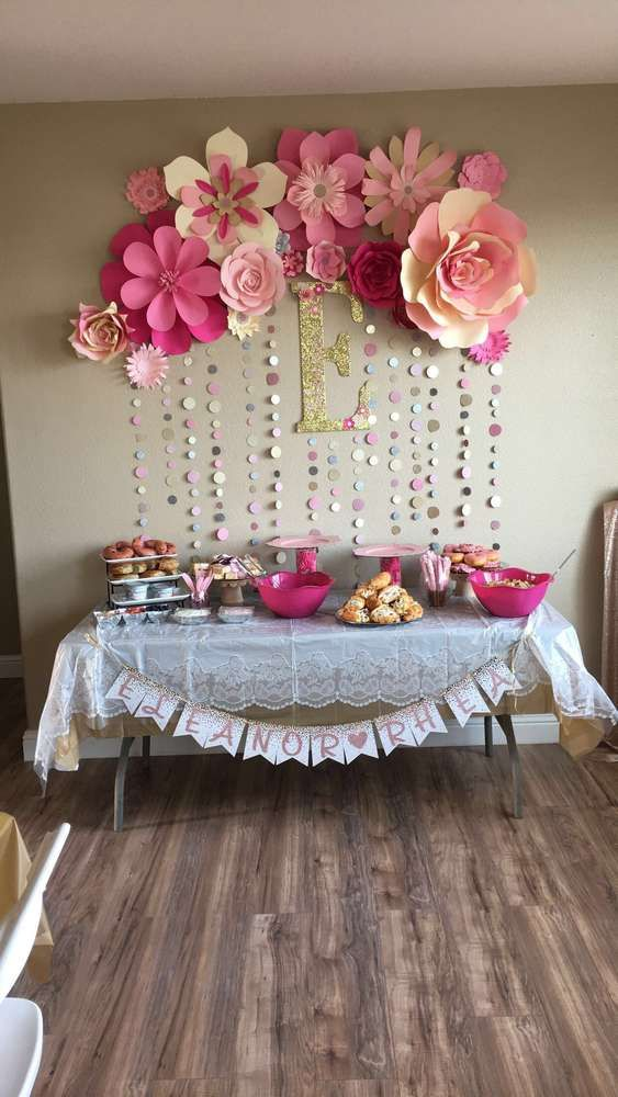 Pink and gold Baby Shower Party Ideas