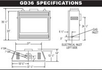 gas fireplace insert rough opening dimensions   Zero ...